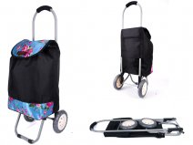 6958 BLUE ROSE 2 WHEEL SHOPPING TROLLEY