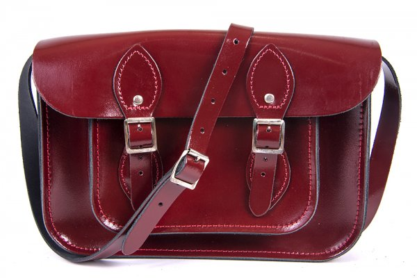 11 OXBLOOD PATENT LEATHER SATCHEL