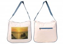3423 MICRO FIBRE BEACH BAG WITH TOP & BACK ZIP