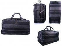 "HBY-0014 (28"") GREY STRIPES WHEELED HOLDALL"
