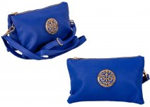JBFB283 BLUE PU CROSSBAG W/ DOUBLE COMPARTMENT