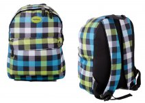 HBY-0047 HIGHBURY CHECKERED BACKPACK W/ 2 ZIPS