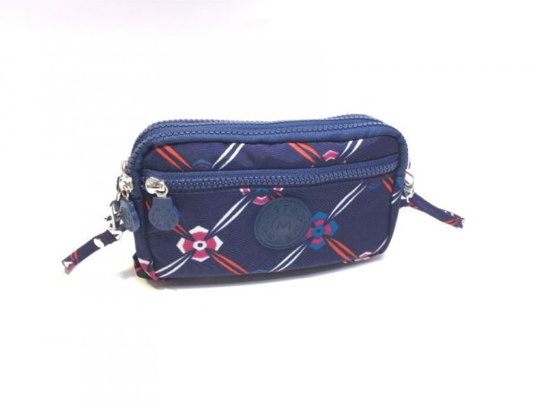 LL-7 Printed Blue-Design Pattern Metro Pouch Bag With Strap