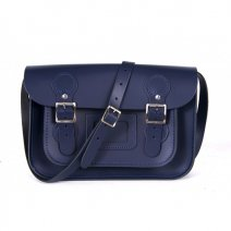 11 CIRCLE NAVY BLUE SATCHEL