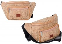7205 Distressed Cork Bumbag with Front Zipped Pocket