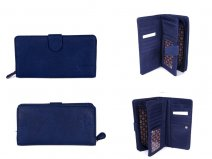 JBPS113 NAVY PURSE WITH POP FRONT & REAR & 1 ZIP