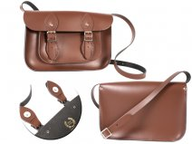 11 CHESTNUT BROWN MAGNETIC ENGLISH SATCHEL