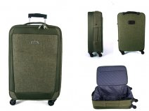 "EV-419 GREEN 28"" 4 wheel trolley case"
