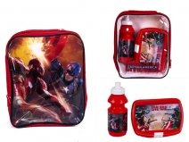 4105V-6212 Kids Lunchbag Red Captain America Marvel