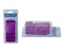 JBACC05 PURPLE LUGGAGE STRAP WITH CLIP