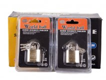 0243 worldball padlock SET OF 12
