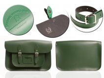 15 RACING GREEN MAGNETIC SATCHEL NO HANDLE