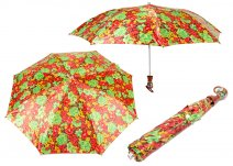 CASAVIA GREEN/RED FLOWER PRINT UMBRELLA