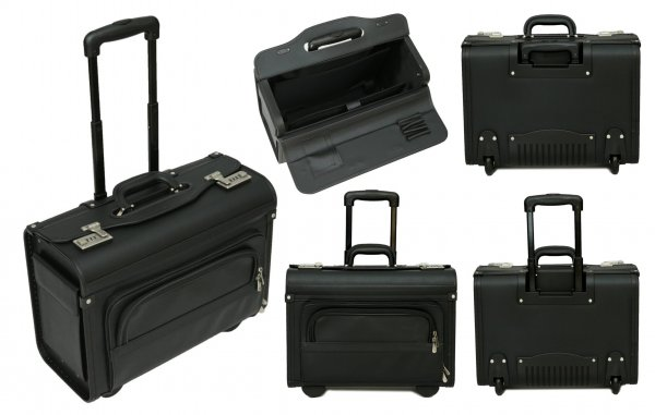 PL1640Tassia Pilotcase with Trolley