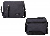 JBMB04-G BLACK CROSSBAG W/4 ZIPS AND FLAP