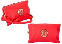 JBFB283 RED PU CROSSBAG W/ DOUBLE COMPARTMENT