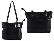 1907 S.Nappa Top Zip Tote with Back Zip