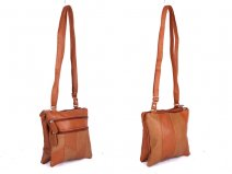 JBHB2556 Tan Patchwork Xbdy with 4 zips