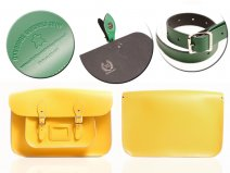 15 DOUBLE YELLOW MAGNETIC SATCHEL NO HANDLE