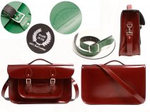 15 OXBLOOD PATENT OXBRIDGE BRIEFCASE SATCHEL