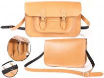 15 TAN MAGNETIC SATCHEL NO HANDLE