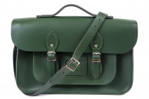15 RACING GREEN MAGNETIC SATCHEL W/HANDLE