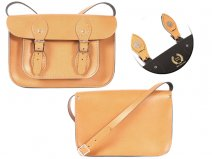11 TAN MAGNETIC ENGLISH SATCHEL