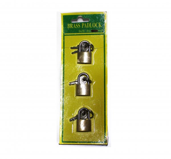 3699 3 PACK OF PADLOCKS
