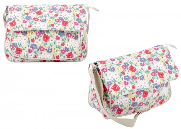 CC-103 WHITE FORAL CROSSBAG