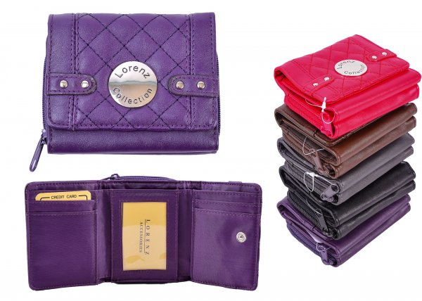 7551 LORENZ COLLECTION PURSE PURPLE
