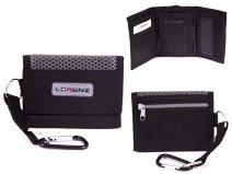 7999 BLACK Small Trifold Sports Wallet with Belt Hook
