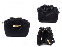 4613 DOUBLE ZIP PURSE WITH CENTRE FRAME TABOVER BLACK
