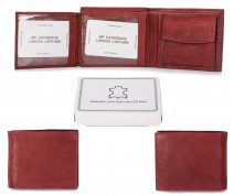 1066 RFID ORANGE LONDON LEATHER WALLET W/CC FLAP