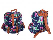 JBCB151 Backpack Navy Tropical Flowers