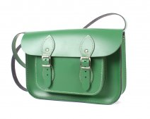 SATCHEL LIGHT GREEN 11''