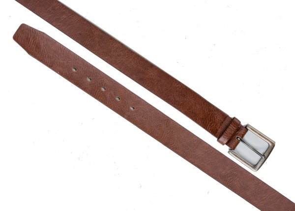 "2771 1.5"" BROWN LEATHER GRAIN BELT WITH ANTIQUE GUN METAL L"
