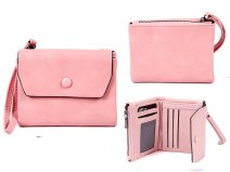 7147 PINK FLAPOVER PURSE