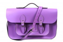 15 LIGHT PURPLE MAGNETIC SATCHEL W/HANDLE