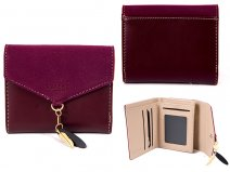 7144 PLUM SMALL ENVELOPE STYLE FLAPOVER PURSE RFID CHAR