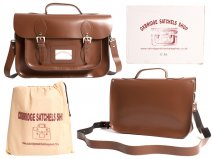 "IN-NEW 13"" CHESTNUT SATCHEL WITH HANDLE"