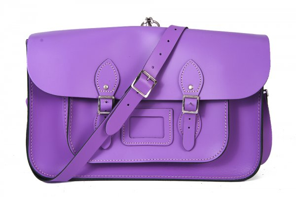 "15"" LIGHT PURPLE BACKPACK MAGNETIC LEATHER"