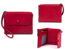 7147 RED FLAPOVER PURSE