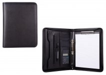 3107-2 BLACK PU FOLIO FOLDER W/ NOTE PAD