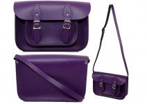 11 INCH OXBRIDGE MAGNETIC BUCKLE SATCHEL PURPLE