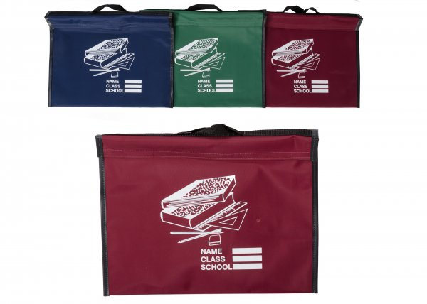 Stationary Book Bag Red