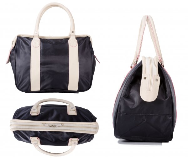 LL-38 BLACK ROUND HANDLED BAG