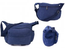 2560 NAVY Large Bag with Top Zip, 2 Front Zips & Back