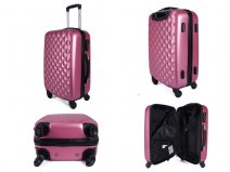 JB2020 PINK 4 360 Degree Wheel Cabin Trolley