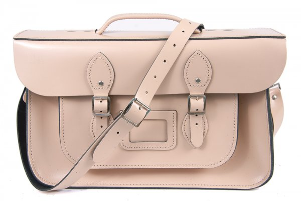 "15"" CLOUD CREAM BRIEFCASE MAGNETIC LEATHER"