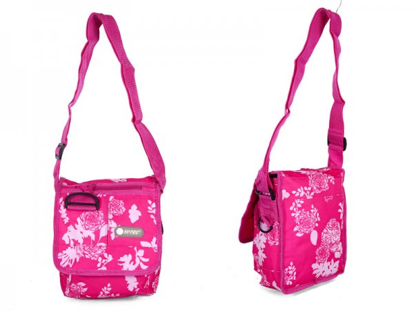 HT-1041 PURPLE FLORAL SHOULDER BAG